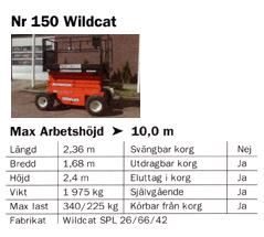 Wildcat 10,0m – Saxlift